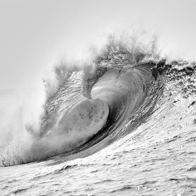 Photo de vague - Art - Deco - Alu brossé