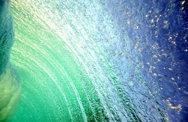 Photo sous-marine vagues art